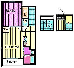 ブローテハウス[3階]の間取り