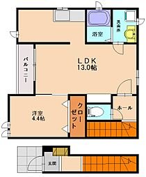 レジデンスノーヴァ[2階]の間取り
