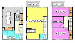 [テラスハウス] 埼玉県朝霞市本町1丁目 の賃貸【/】の間取り