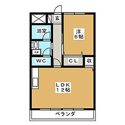 ロワールレジデンスII[1階]の間取り