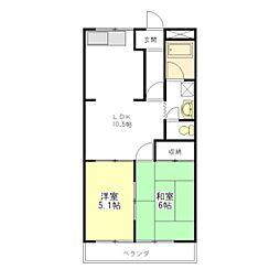 WoodPark[2階]の間取り