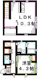 JR総武線 西荻窪駅 徒歩5分の賃貸アパート 1階1LDKの間取り