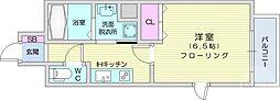 ライブカーサ仙台長町 7階1Kの間取り
