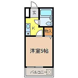 ハイツタキタニI[2階]の間取り