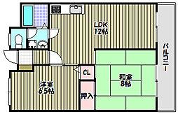 コーポフロンティア21[3階]の間取り