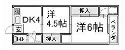 マンション千丈[4階]の間取り