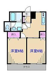 レジデンス綱島[1階]の間取り