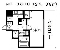 リンクパラッツォ上本町[11階]の間取り