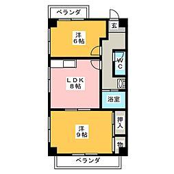 アーバンハイツ立花[3階]の間取り