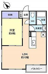 サンアベニュー八千代台[1階]の間取り