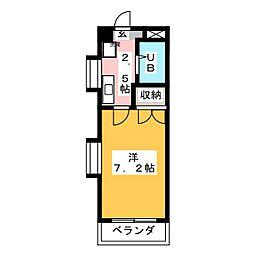 コロナハイツA棟[1階]の間取り