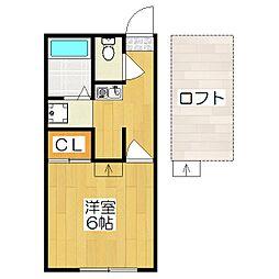 レオパレスイン京都[1階]の間取り