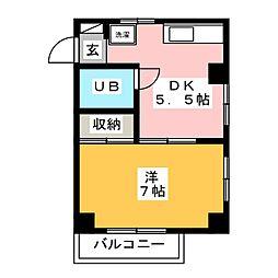 グランアブニールWEST[3階]の間取り