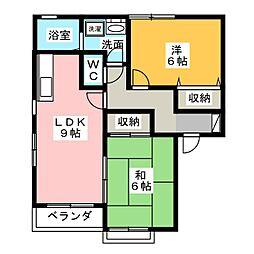 ベルコート A[2階]の間取り