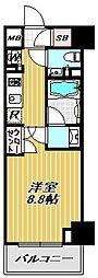 ミレーネ品川荏原[5階]の間取り