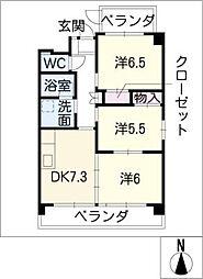 GrandCha'teauIII[4階]の間取り