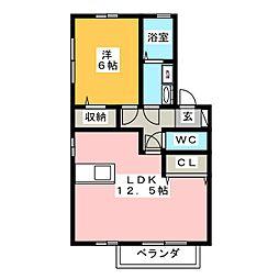 サンライズガーデンA[2階]の間取り