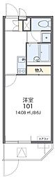 大阪モノレール本線 門真市駅 徒歩17分の賃貸マンション 1階1Kの間取り