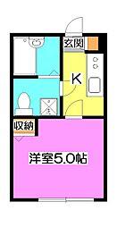 デザイナーズハウス清瀬[2階]の間取り