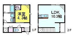 JR中央線 西荻窪駅 徒歩5分の賃貸アパート 1階1LDKの間取り