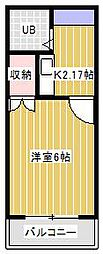 新松戸ライトフラッツ[202号室]の間取り