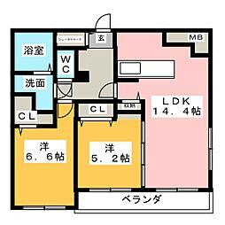 Lalba di secondo[4階]の間取り