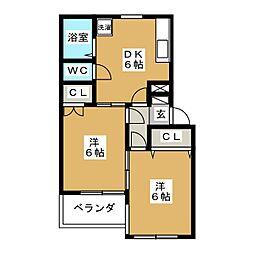 第十二ショーケービル[1階]の間取り