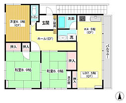 [一戸建] 東京都大田区仲六郷4丁目 の賃貸【/】の間取り