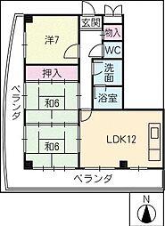 メゾンドボヌー小田井[4階]の間取り