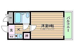 カルム25[6階]の間取り