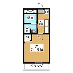 フラッティ堀川高辻[1階]の間取り