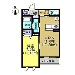 仮)川崎区藤崎1−1シャーメゾン[205号室]の間取り
