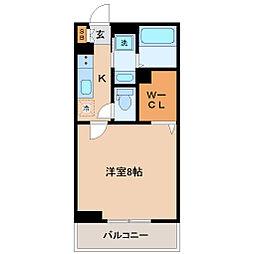 仙台市営南北線 五橋駅 徒歩13分の賃貸アパート 1階1Kの間取り