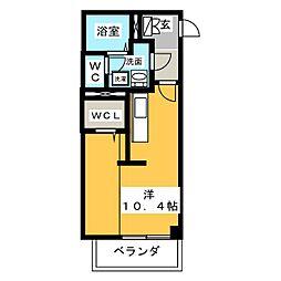 仮称)ヤマウラマンション 1階ワンルームの間取り