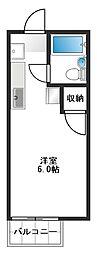 メゾンアルファ[2-B号室]の間取り