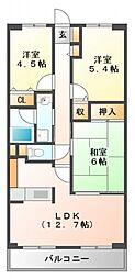 ソレアード江坂[2階]の間取り
