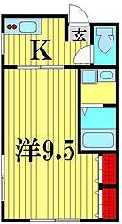 KS base[205号室]の間取り