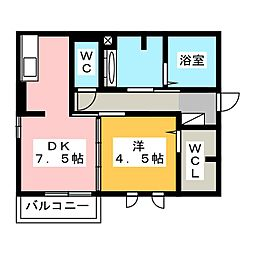 サンライフ B棟[2階]の間取り