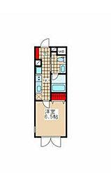 東京メトロ有楽町線 江戸川橋駅 徒歩10分の賃貸マンション 2階1Kの間取り