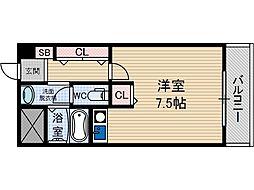 サンプラザ総持寺[5階]の間取り