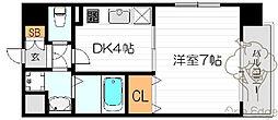 ニコル梅田[9階]の間取り