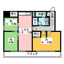 日商岩井上前津ハイツ[6階]の間取り