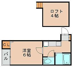 レクセル吉塚[1階]の間取り