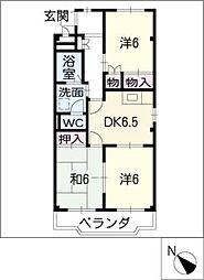 愛知県名古屋市緑区諸の木1丁目の賃貸マンションの間取り