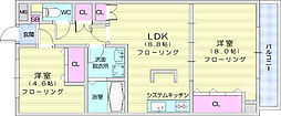 JR東北本線 岩沼駅 徒歩21分の賃貸マンション 4階2LDKの間取り