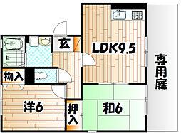 メルべーユ前田[1階]の間取り