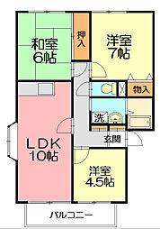 ステージ湘南第2B[1階]の間取り