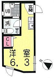 OYO LIFE #1444 エフォート西池袋 3階ワンルームの間取り