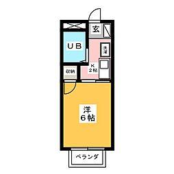 メゾン小坂 A[2階]の間取り