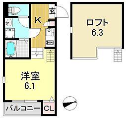 cozy palace(コージーパレス)[1階]の間取り
